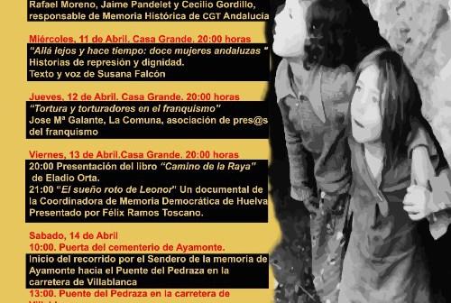 Ayamonte acoge del 10 al 14 de abril las Jornadas de Memoria Histórica